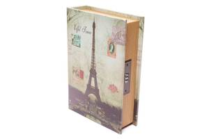 Книга сейф BST 490152 33×24×8 см разноцветная Париж