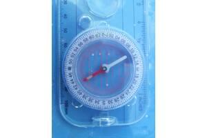 компас для ориентайии на местности . с линзой и измерителями фосфорные указатели
