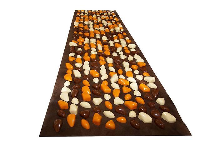 Коврик с камушками DECO - Lamor 140х40 см (коричневая основа) бежево-оранж-коричневый- объявление о продаже  в Одессе