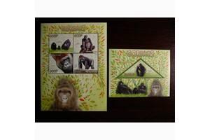 Красивые марки фауна Обезьяны-2