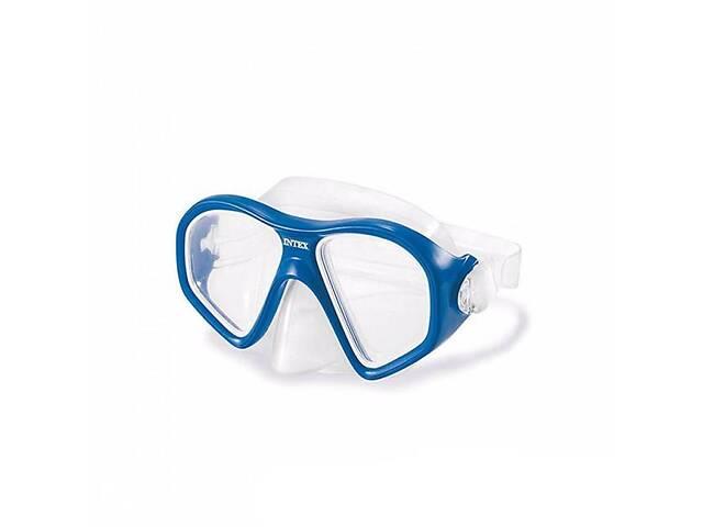 Маска для підводного плавання з регульованим ремінцем Intex Reef Rider Masks для дітей від 14 років, синя- объявление о продаже  в Києві