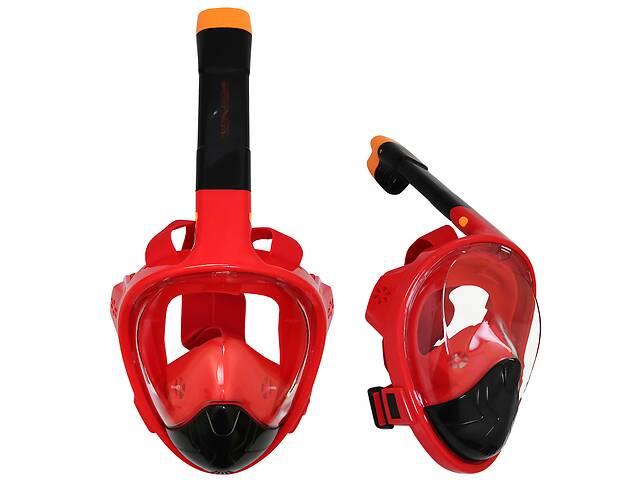 Маска для снорклинга (плавания) SportVida SV-DN0021 Size S/M Black/Red
