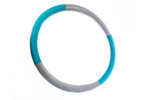 """Массажный Обруч """"Heavy Hoop"""" 1000 мм, вес 1,1 кг бирюзово-серый"""
