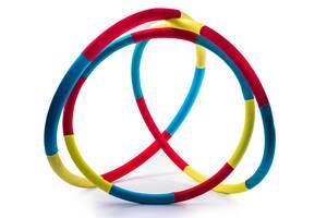 """Массажный Обруч """"Heavy Hoop"""" 900 мм, вес  2,0 кг красно-желто-бирюзовый"""