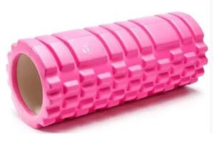 Массажный ролик WCG SPORT K1 Роллер 33 см (валик + роллер-цилиндр для йоги, массажа всего тела: рук, ног, спины, шеи