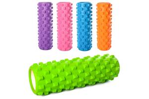 Масажний вал, ролик для спини, рулон для йоги MS 1843-1 (5 кольорів)