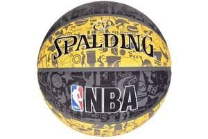 Мяч баскетбольный Spalding Nba Graffiti Outdoor Grey/Yellow Size 7 SKL41-277816