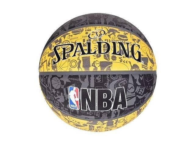 продам Мяч баскетбольный Spalding Nba Graffiti Outdoor Grey/Yellow Size 7 SKL41-277816 бу в Харькове