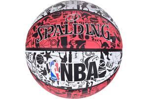 Мяч баскетбольный Spalding Nba Graffiti Outdoor серо-красный Size 7 SKL41-249480