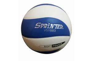 Мяч волейбольный Sprinter VS1003 клееный Сине-белый (spr_10018)