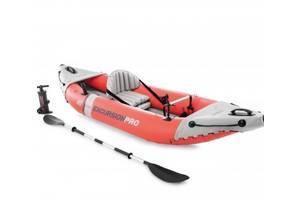 Надувная байдарка Eхcursion Pro K1 с алюминиевыми веслами и насосом SKL11-292187