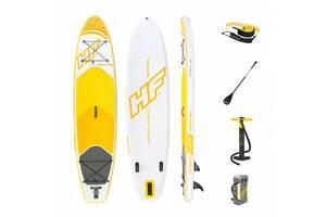 Надувная доска для плавания серфинга с веслом SUP-борд BESTWAY 65329