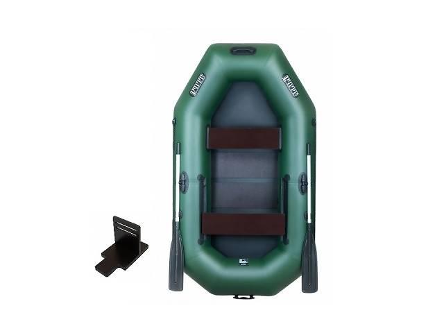Надувная лодка Ладья ЛТ-240ЕСТ двухместная гребная с веслами и передвижным сиденьем 2.4 м (lad_ЛТ-240ЕСТ)