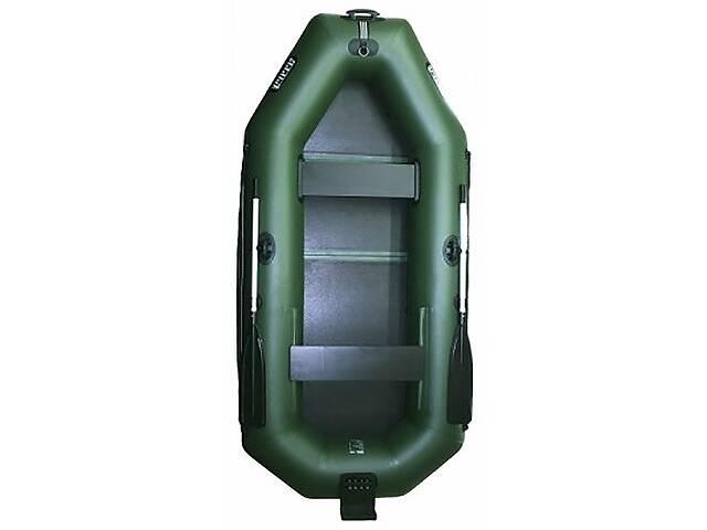 Надувная лодка Ладья ЛТ-270ЕВТ двухместная гребная с веслами и передвижным сиденьем 2.7 м навесной транец слань-книжк...