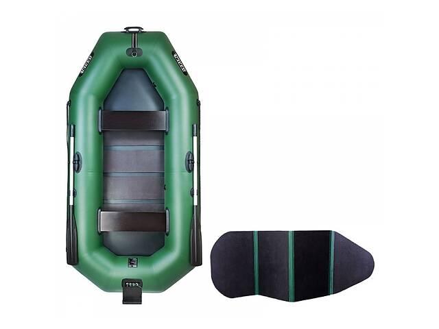 Надувная лодка Ладья ЛТ-270ВТБ двухместная гребная с веслами и сиденьями 2.7 м навесной транец слань-книжка (lad_ЛТ-2...