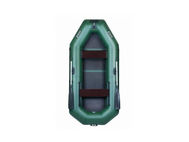 Надувная лодка Ладья ЛТ-310ЕВБ трехместная гребная с веслами и передвижным сиденьем 3.1 м слань-книжка (lad_ЛТ-310ЕВБ)