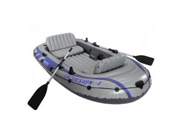 бу Надувная лодка с веслом  Intex 68324 EXCURSION 4 Set  в Украине