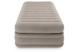 Надувная велюр кровать Intex 64444 99 х 191 х 51 см встроенный насос (bint_64444)