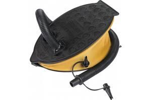 Насос ножной для накачки надувных изделий Bestway 23 см, черный с желтым