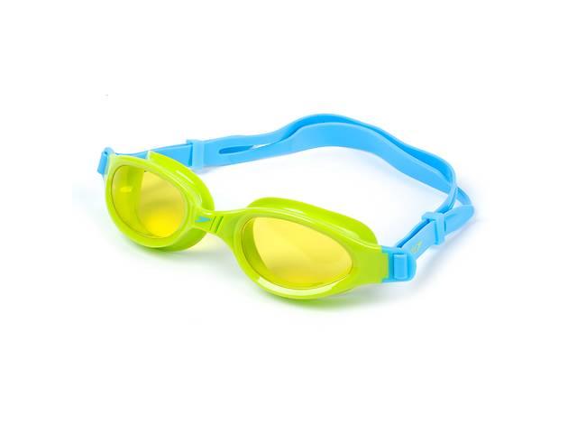 купить бу Очки для плавания детские SPEEDO FUTURA PLUS JUNIOR 809010B818 Yellow/blue (ZA04040) в Киеве