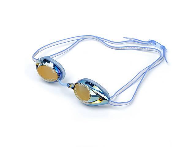 купить бу Очки для плавания детские SPEEDO VANQUISHER MIRROR JUNIOR 8061767239 Blue (SP00092) в Киеве