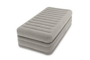 Односпальная надувная кровать встроенный электронасос матрас Intex 64444