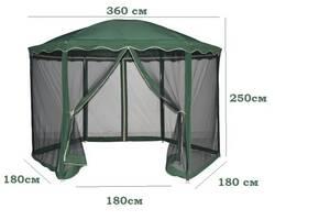 Павильон садовый, стальной каркас + москитная сетка, шатер беседка