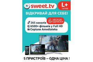 Подписка на сервис SWEET TV Пакет L + на 6 месяцев