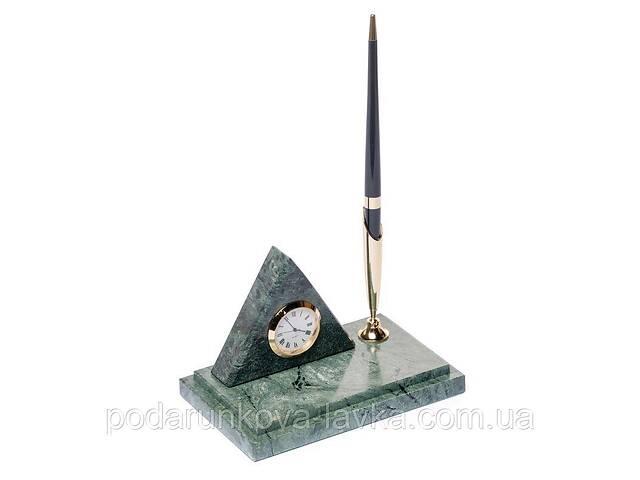 купить бу Подставка на стол с часами для ручки BST 540018 16х10 мраморная Пирамида в Киеве