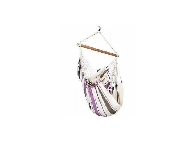 бу Подвесной стул-гамак La Siesta Caribenaбело-фиолетовый, из 100% хлопка, нагрузка до 130 кг.CIC14-7 в Киеве