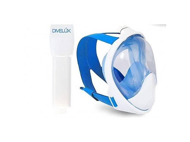 купить бу Полнолицевая маска для плавания DIVELUX Snorkel Mask L / XL Синий (SN_113) в Киеве