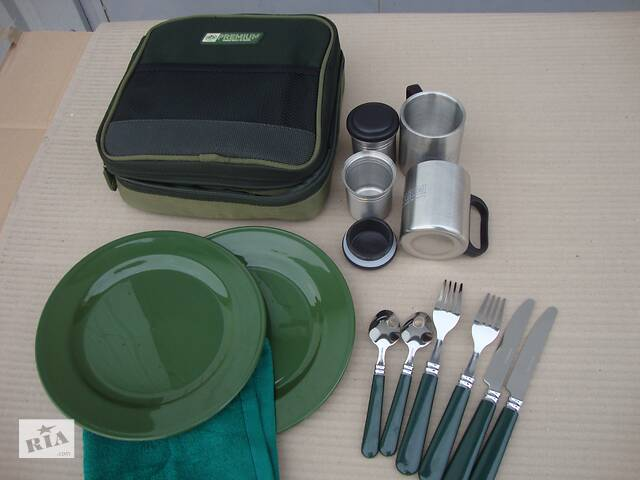 купить бу Посуд столовий набір полювання риболовля туристичний посуд набір рибалки в Нововолинську