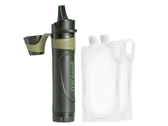 бу Профессиональный походный фильтр для воды туристический Miniwell L600 Зеленый (100133) в Києві
