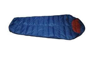 Пуховый спальный мешок кокон облегчённый на рост до 180 см