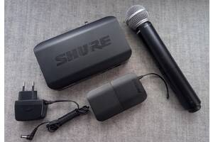Радіосистема Shure blx24/sm58 з мікрофоном і поясним передавачем
