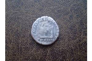 Серебро денарий (храм Августа и Ливии) Антонин Пий 159-й год н. э.
