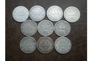 Серебро марка 1875-го года Германская империя