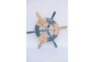 Штурвал деревянный BST диаметр 42 см декоративный 530638