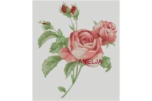 Схема для вышивки - Нежная роза