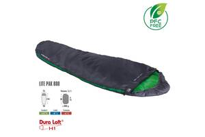 Спальний мішок High Peak Lite Pak 800/+ 8& deg; C Anthra/Green Left (23272) HghPk928921