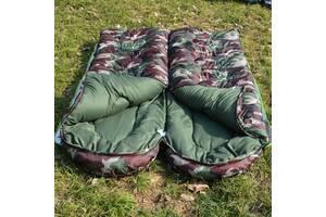 Спальний мішок, спальник, комуфляжний, до -30, теплий, щільний, якісний, з капюшоном