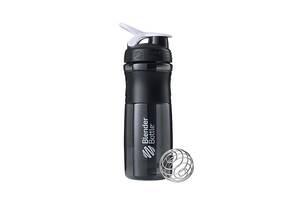 Спортивна пляшка-шейкер BlenderBottle SportMixer 28oz/820ml чорна з білим Original BlenderBottle SKL24-292053