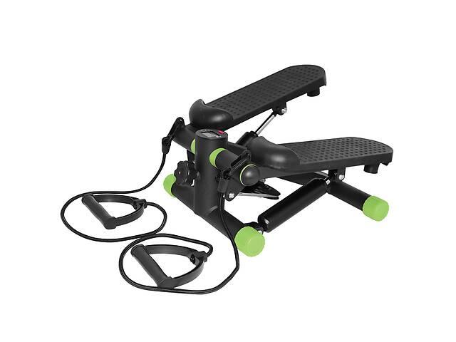 Степпер міні-степпер з еспандерами SportVida Black/Green SKL41-291319- объявление о продаже  в Харкові