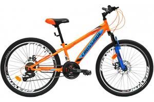 Стильний підлітковий велосипед 24& quot; CROSSRIDE TIGER DD 2021