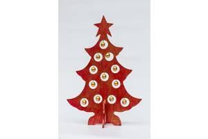 Сувенир Елка новогодняя BST 50 см красная с золотыми шарами 530559