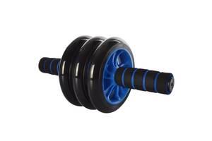 Универсальный домашний тренажер колесо Profi для пресса, голубой