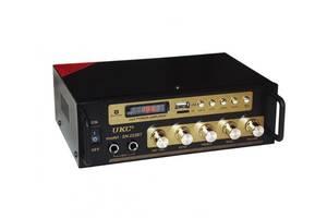 Усилитель звука UKC SN-222BT FM USB Bluetooth Караоке 60W+60W Black (3sm_859477131)