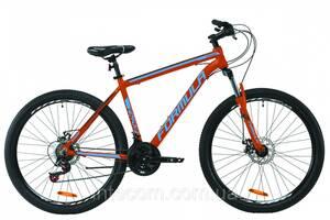 """Велосипед горный мужской 27.5"""" Formula Thor 2.0 DD 2020 алюминиевая рама 19"""" оранжево-синий с серым"""