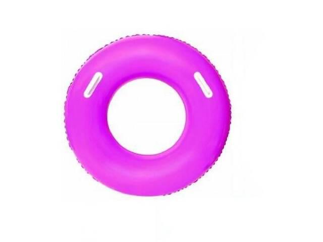 бу Яркий надувной круг для детей от 10 лет BestWay с ручками, диаметр 91см, розовый в Киеве