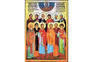 Икона Собор 12 Святых Целителей